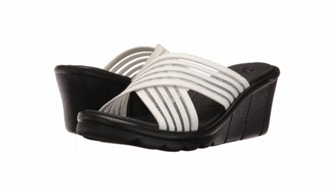 Skechers Women's Promenade Easy Go Wedge Sandal White38948 WHT Size 10