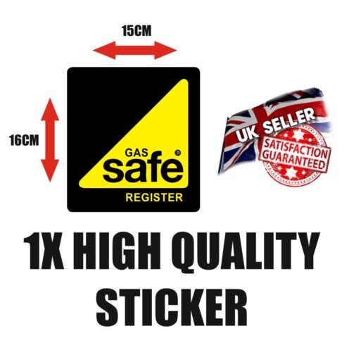 Registro de seguridad de gas Vinilo Calcomanía vehículo van con el logotipo de alta calidad