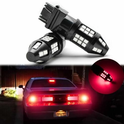 Strobe Flash 5-Times Red Brake Light SMD LED Bulbs for Dodge Charger Challenger