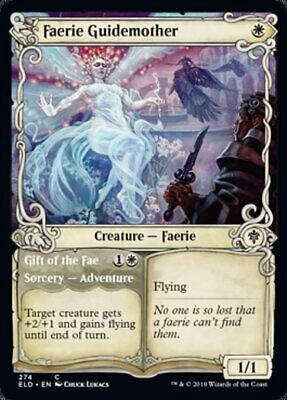 FOIL Throne of Eldraine NM Gift of the Fae Faerie Guidemother Showcase