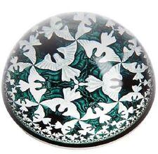 New ESCHER CIRCLE LIMIT IV glass Dome Angels & Demons bat Paperweight Parastone