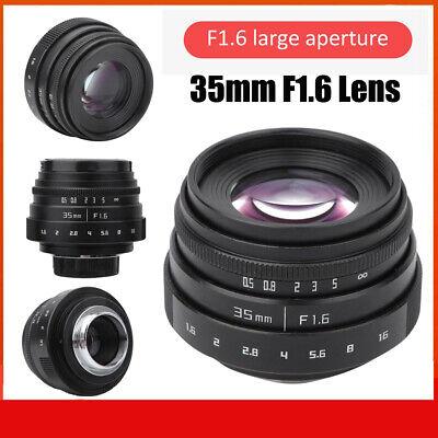 Single Lens Micro Lens 35mm F1.6 CCTV C Lens Wide Aperture Lens for NEX M4//3 FX Money