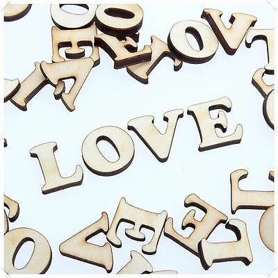COOPER WOODEN WOOD LOVE WORD VALENTINE ROMANCE CRAFT CARD MAKING SCRAP BOOKING