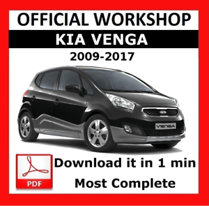 official workshop manual service repair kia venga 2009 2015 ebay rh ebay co uk kia ceed workshop manual download kia ceed service manual pdf