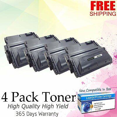 4 PK Q5942X 42X High Yield Toner Cartridge For HP LaserJet 4200 4250 4300 4350