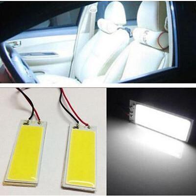 2 X 12V Xenon HID White 36-COB LED Dome Map Light Bulbs Car Interior Panel Lamps