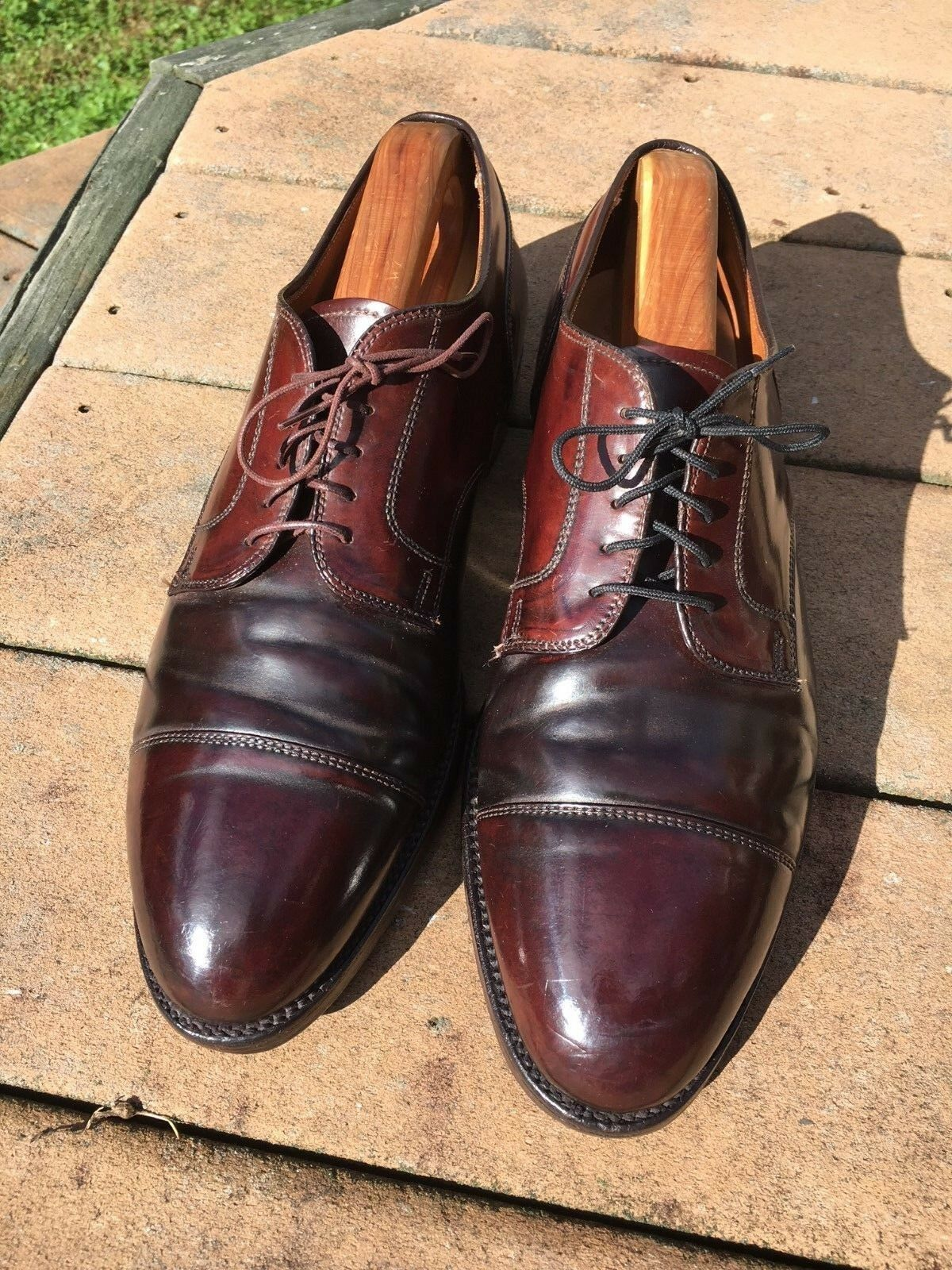 PATINA! Alden/Brooks Shell Cordovan Captoe Blucher Burgundy 11.5E Wide #8 #8 #8 a37abf