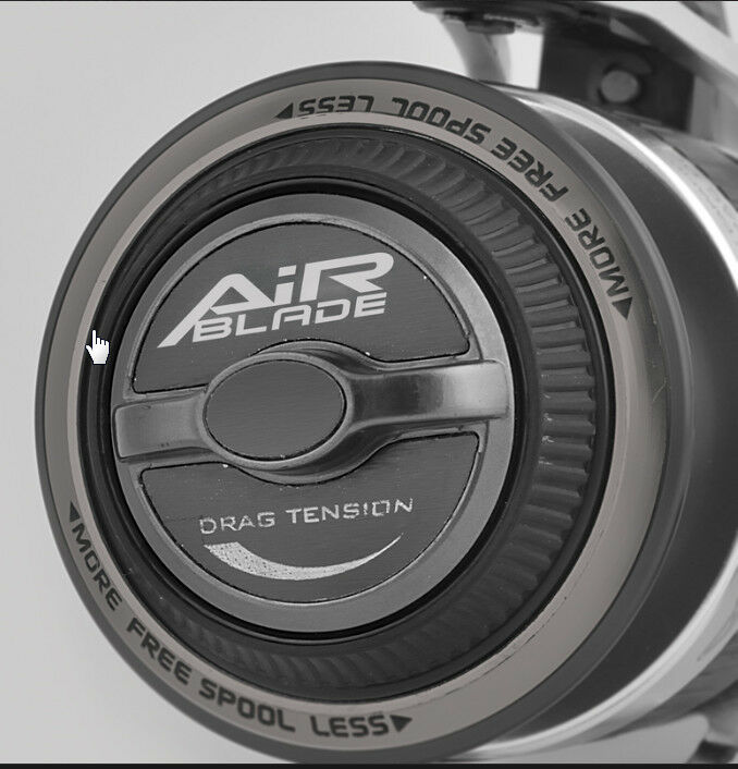 Trabucco 4000 free spool Airblade 4000 Trabucco reel. auto anti reverse system Slim build 0a1455