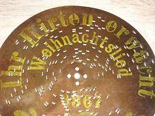 Weihnachtslied Ihr Hirten erwacht Polyphon Blechplatte 16,4cm Uhr music box disc