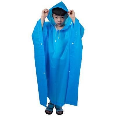 Kids Waterproof Jacket Plastic Raincoat Rain Coat Hooded Poncho Rainwear EVA