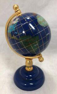 World-Globe-Tripod-Stand-Map-Atlas-Hand-Crafted-Gemstone-Semi-Precious-Jewels-6-034