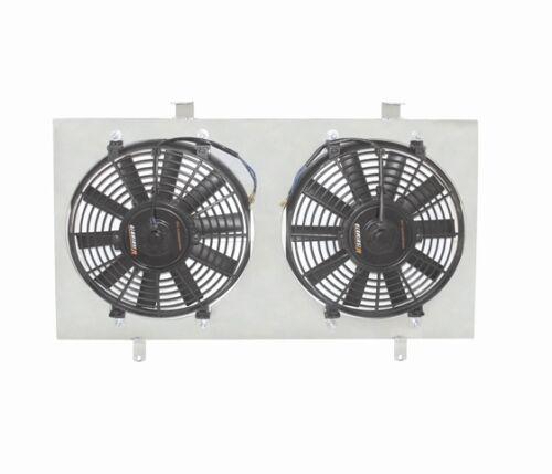 "Mishimoto Dual 12/"" Slim Cooling Fans Aluminum Shroud 94-97 Accord 2.2 4Cyl"