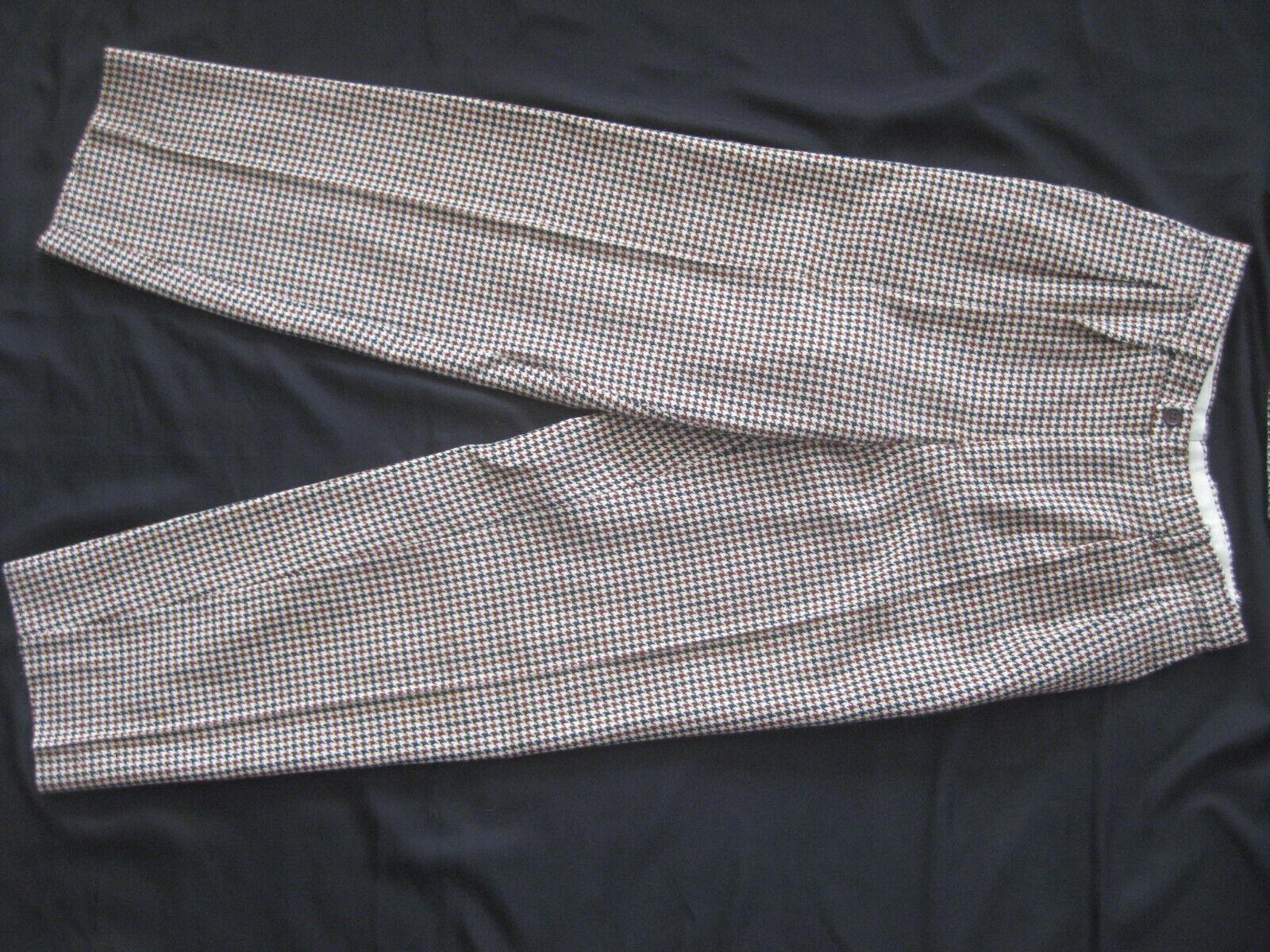 1980s KENZO Paris Wool HOUNDSTOOTH PLAID Pleat Fr… - image 4