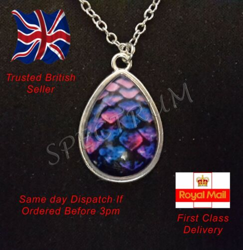 Game of Thrones Jewellery Teardrop Purple Dragon egg Targaryen Pendant Necklace