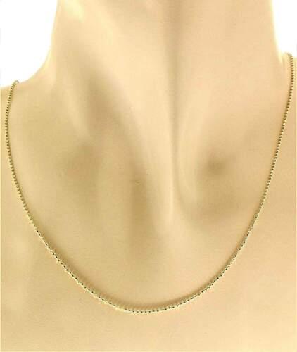 Collana Catenina Girocollo Oro Giallo 18 Kt Carati Ct 750 1,85Gr Uomo Donna 45Cm