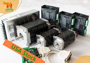 ac487699747 Great Kit! Wantai CNC 3Axis Stepper Motor Dual Shaft 425oz-in 1600oz ...