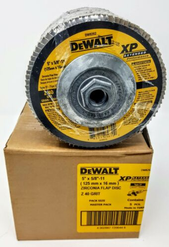 "Box of 5 Dewalt DW8262 5/"" x 5//8/""-11 40g type 27 XP Flap Discs"