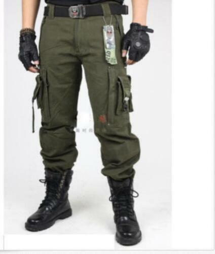 Spring men/'s boys cargo millitary Tactical Pants Outdoor Camo workwear Trousers