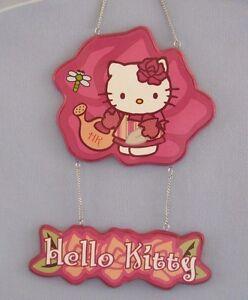 Hello Kitty Garden Hanging Door Sign Plaque Decorative Sanrio Co