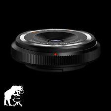 Olympus Body Cap Lens Fisheye 9mm 1:8.0 schwarz 140° Bildwinkel · Weitwinkel