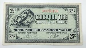 1962-Canadian-Tire-Money-25-Cents-CTC-7-E1-V-Circulated-Mor-Power-Gas-E155