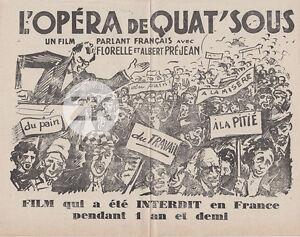 L-039-OPERA-DE-QUAT-039-SOUS-Film-G-W-PABST-Censure-Chanson-Misere-Manif-Populaire-1932