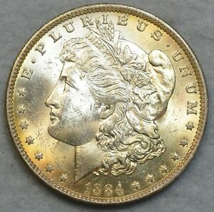 1884 O New Orleans Mint Silver Morgan Dollar UNC BU CHOICE FREE Shipping 36039
