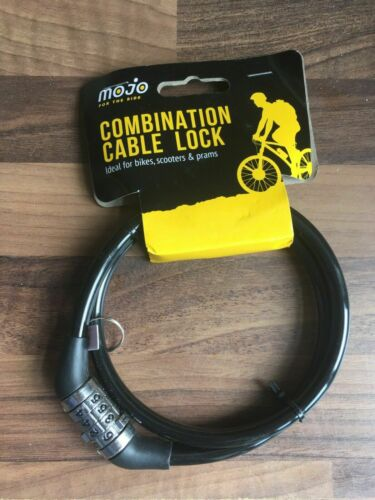 BICYCLE BIKE LOCK FOUR DIGIT COMBINATION CABLE NUMBER CODE LOCK SCOOTERS PRAMS