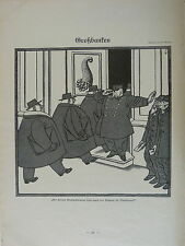 vintage SIMPLICISSIMUS cartoon 1924 GROSSBANKEN e schilling