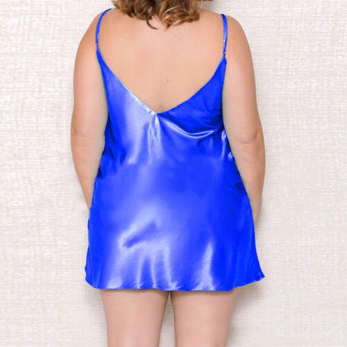 Details about  /Plus Size Women/'s Slik Satin Lingerie Strappy Dress Nightwear Babydoll Sleepwear