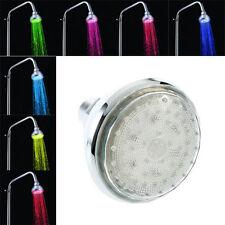 Romantic 7 Color Change LED Light Shower Head Water Bath Home Bathroom Glow FASH