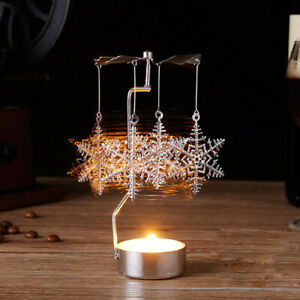Hot-Spinning-Rotary-Metal-Carousel-Tea-Light-Candle-Holder-Christmas-Decor-Gift