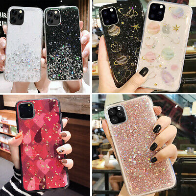 Iphone 11 Pro XS Max 8 Plus XR Bling Glitter Sparkle Girls Cute Phone Case  Cover