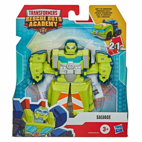 Playskool Transformers Rescue Bots Academy Salvage to Cement Mixer E8106