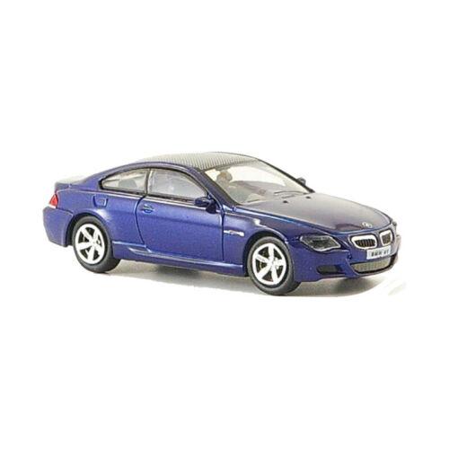° Ricko 38672 bmw m6 azul escala 1:87 coche modelo nuevo