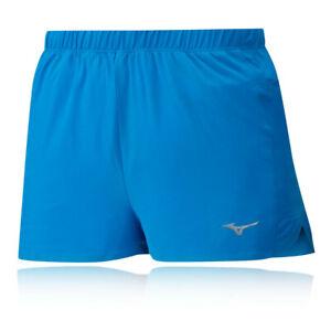 Dettagli su MIZUNO Da Uomo Aero ROVESCIATO 1.5 Pantaloncini Pants Pantaloni Bottoms Blu Sport da Palestra Corsa mostra il titolo originale