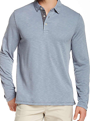 Tommy Bahama Paradise Long Sleeve Polo Shirt in Sailfish L XL XXL $110 NWT