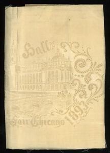 1893-Chicago-World-039-s-Fair-original-silk-napkin