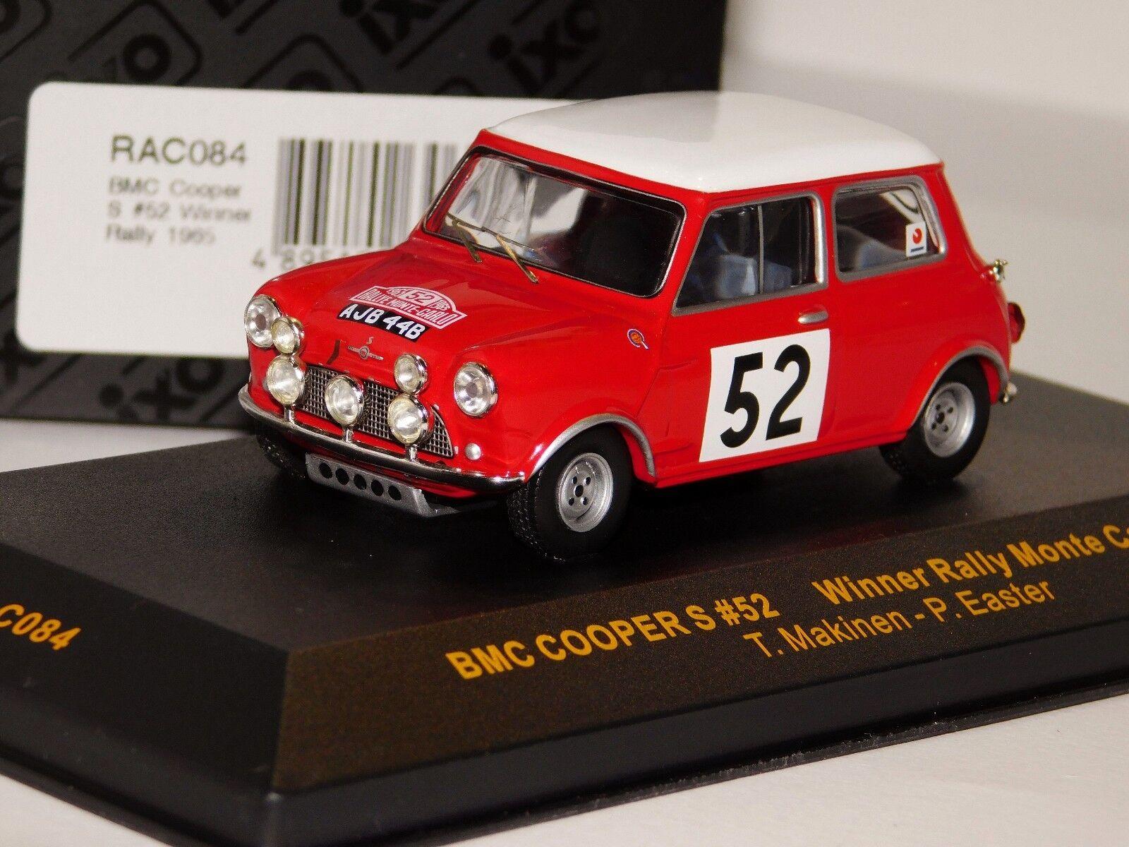 BMC MINI COOPER S VINER MONTE bilLO 1965 IXO RAC084 1  43