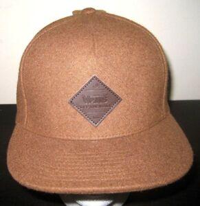 aba08368 Vans Shoes Mens Grove Snapback Brown Wool Blend Hat Cap Adjustable ...