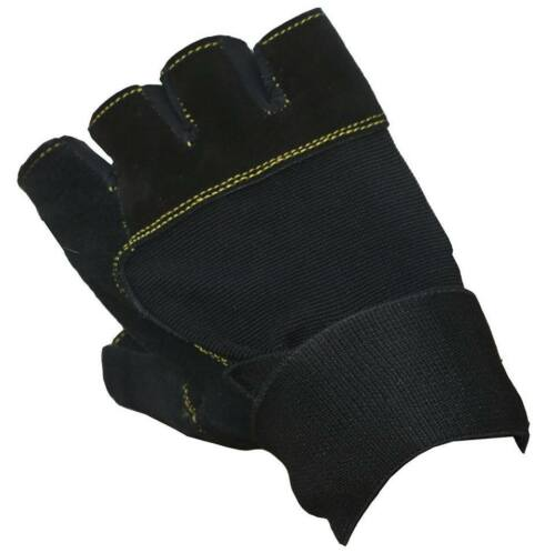 Mens Heavy Duty Haltérophilie Gym Cyclisme Extérieur Cuir Sports Gants S M L XL