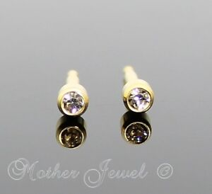 e99eba5cf 3MM LOCK BACK 24ct GOLD PLATED STUDEX GIRLS BOYS BABY BABIES ...