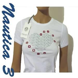North T Sails Taglia Donna Mezza L Manica shirt Bianca r1rOwqZdx5