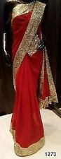 Bollywood Designer Party Wear Red Color Georgette  Saree