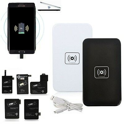 Qi Wireless Charger Charging Pad + Receiver Kit for Samsung Galaxy S3 S4 S5 Note