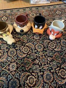 1992-TAZ-TAZMANIAN-DEVIL-amp-Friends-PLASTIC-3D-COFFEE-MUG-LOONEY-TUNES-CUP