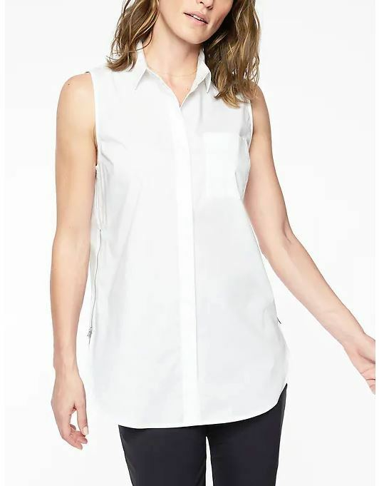 Athleta NWT Women's Soma Shell Size  Large color White