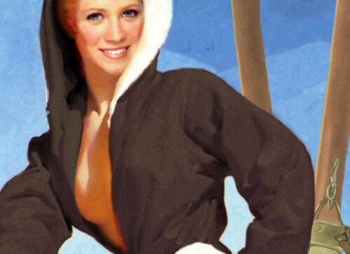 Park City Utah Snow Ski Travel Poster Brittany Spaniels Pin Up Art Print 328