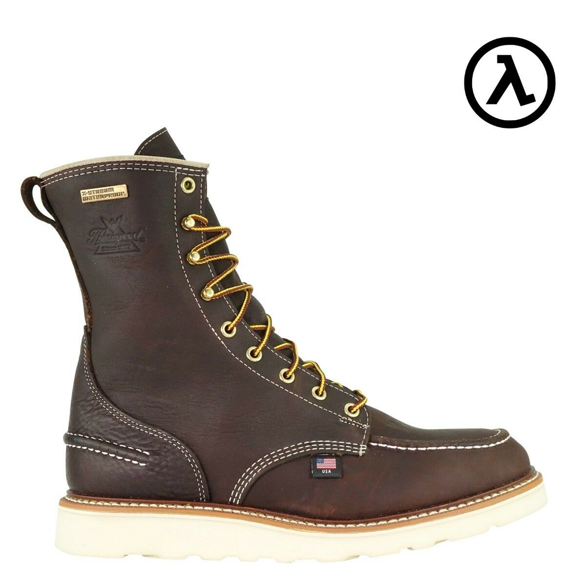 THgoldGOOD 8  MOC TOE ST WATERPROOF USA-MADE WORK BOOTS 804-3800- ALL SIZES