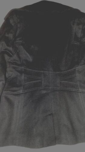 Wool L Vintage Short 38 Manteau 38 Black court Ladies Chest Jacket Reiss Coat xITq0a